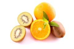 Orange and kiwi Stock Photos