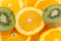 Orange and kiwi Stock Photography