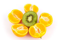Orange and kiwi Stock Image