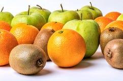 Orange, kiwi and apples assortment Royalty Free Stock Image