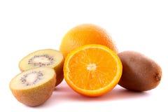 Orange and kiwi isolated Royalty Free Stock Photo