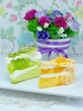 Orange and kiwi layer cake Stock Image