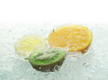 Orange kiwi and lemon Royalty Free Stock Image