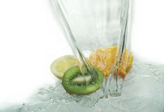 Orange kiwi and lemon Royalty Free Stock Photo