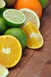 Orange, kiwi and lime Royalty Free Stock Photography