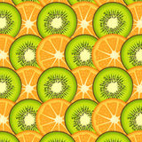 Orange and kiwi slices background Stock Image