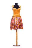 Orange klänning på attrappen Royaltyfri Fotografi