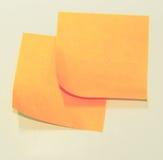 Orange klibbiga anmärkningar Royaltyfri Foto
