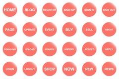 Orange knapp för website eller app vektor illustrationer