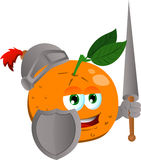 Orange knight Royalty Free Stock Images
