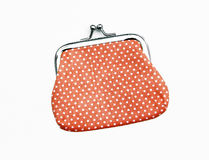 Orange Knit Change Coin Purse Royalty Free Stock Photo