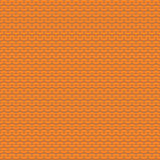 Orange knitted seamless pattern, reverse stockinette stitch Stock Images