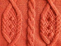 Orange knitting Royalty Free Stock Images