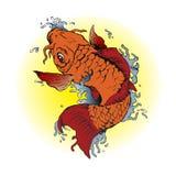 Orange Koi fish tattoo Royalty Free Stock Photo