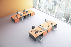 Orange kontorsöverkant Royaltyfri Fotografi