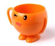 Orange kopp Arkivfoton