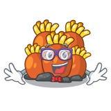 Orange korallrev för Geek som isoleras med maskot vektor illustrationer
