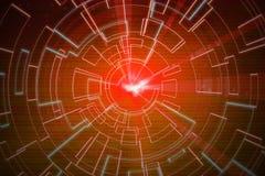 Orange Kreisglühenwelle Scifi- oder Spielhintergrund Stockfotos