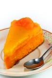 Orange Kuchen Stockbild