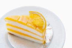 Orange Kuchen Lizenzfreies Stockfoto