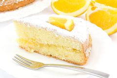 Orange Kuchen Stockfotos