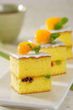 Orange Kuchen Stockbild