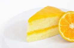 Orange Kuchen Lizenzfreies Stockbild