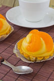 Orange Kuchen Stockbilder