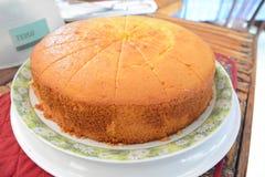 Orange Kuchen Stockfotografie