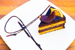Orange Kuchen Chocholate Stockbilder