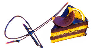 Orange Kuchen Chocholate Stockfoto