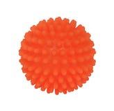 Orange Kugelspielzeug mit Stiften Lizenzfreies Stockbild