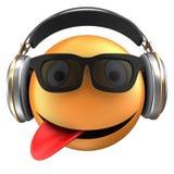 orange Lächeln des Emoticon 3d Stockfotos