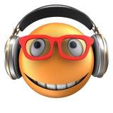 orange Lächeln des Emoticon 3d Lizenzfreie Stockbilder