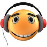 orange Lächeln des Emoticon 3d Lizenzfreies Stockbild