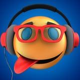 orange Lächeln des Emoticon 3d Stockbild