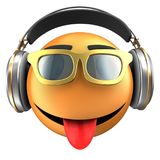 orange Lächeln des Emoticon 3d Stockfoto