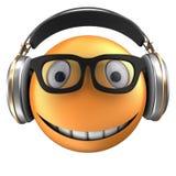 orange Lächeln des Emoticon 3d Lizenzfreies Stockfoto