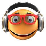 orange Lächeln des Emoticon 3d Stockfotografie