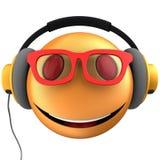 orange Lächeln des Emoticon 3d Lizenzfreie Stockfotografie