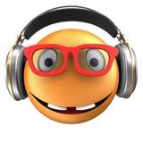 orange Lächeln des Emoticon 3d Lizenzfreie Stockfotos