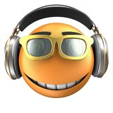 orange Lächeln des Emoticon 3d Stockbilder