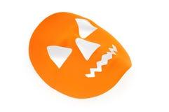 Orange läskig halloween maskering Fotografering för Bildbyråer