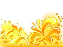 Orange lässt Hintergrund fallen Stockbilder