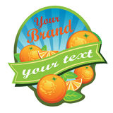Orange Label. Label for some beverages made by orange, or can be used as logo. All elements are grouped and layered. Files in Adobe Illustration 10 Stock Photos