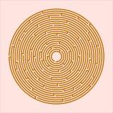 Orange Labyrinth, game, entertainment. Orange Maze, a game of high complexity. Labyrinth, game, entertainment, puzzle, Vector Image royalty free illustration