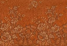 Orange lace pattern. Royalty Free Stock Photos