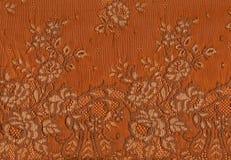 Orange lace pattern. Royalty Free Stock Photos