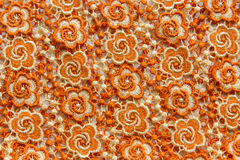 Orange lace on white background. No any trademark or restrict matter in this photo.  Royalty Free Stock Image