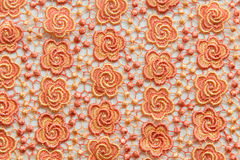 Orange lace on white background. No any trademark or restrict matter in this photo Stock Images
